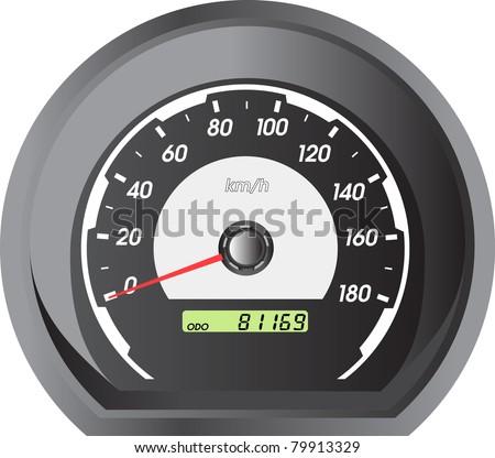 car speedometers for racing design. - stock vector