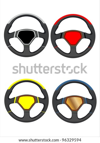 Car steering wheels set