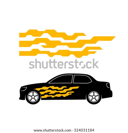 Car Sticker Design Stock Images RoyaltyFree Images Vectors - Car sticker design