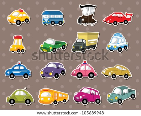 car stickers - stock vector