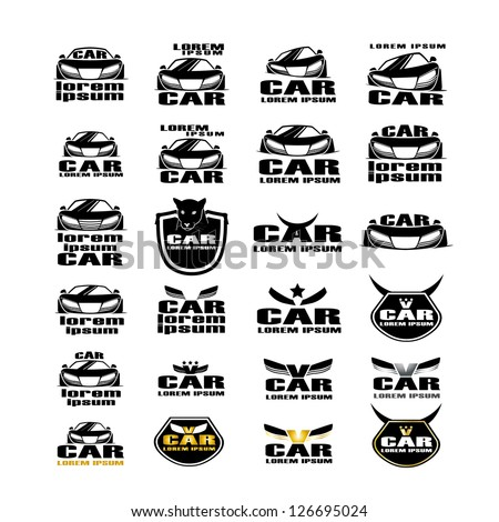 Car Symbols Isolated On White Background - Vector Illustration, Graphic Design Editable For Your Design. Car Logo - stock vector