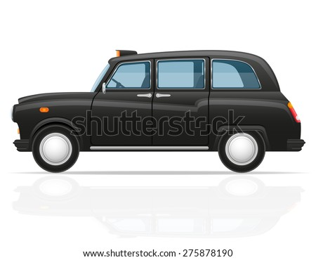 car taxi vector illustration isolated on white background - stock vector