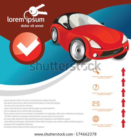 car  template - stock vector