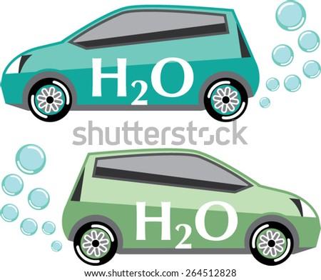 Car that runs on water vector - stock vector