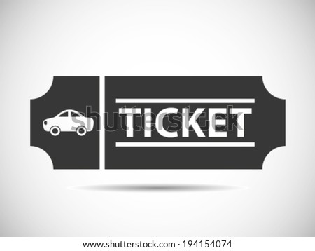 Car Tickets - stock vector