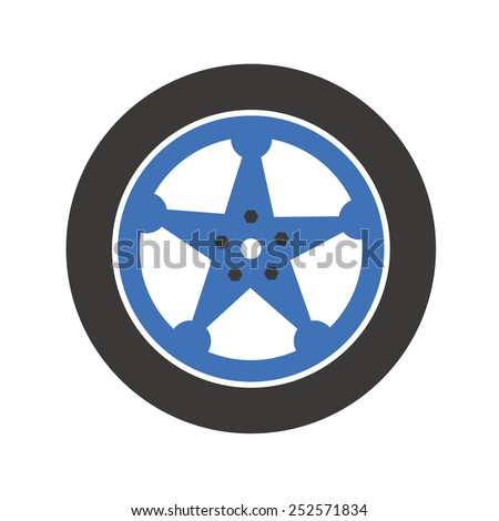 Car tires - stock vector