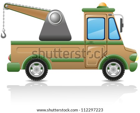 car tow vector illustration isolated on white background