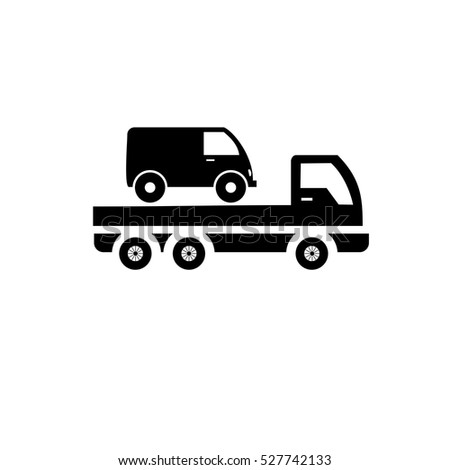 Car Towing Truck Icon Stock Vector 527742133 Shutterstock