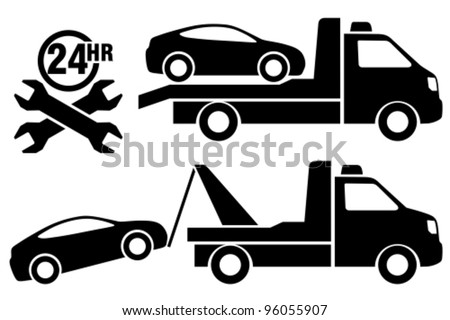 Car Towing Truck Icon Stock Vector 2018 96055907 Shutterstock