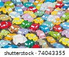Car traffic jam - stock photo