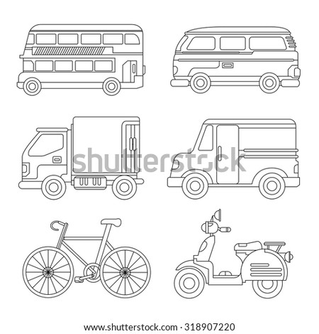 Stock Vector Transportation Silhouette further Revlon Hair Dye in addition  on silhouettes of retro caravan on a white background stock