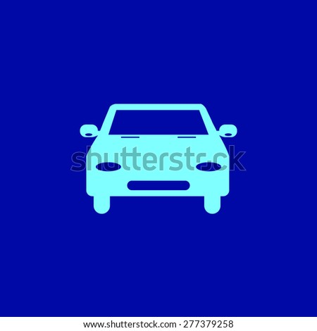 car, vector illustration. Flat icon. - stock vector