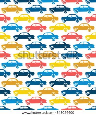 Car vector seamless pattern - stock vector