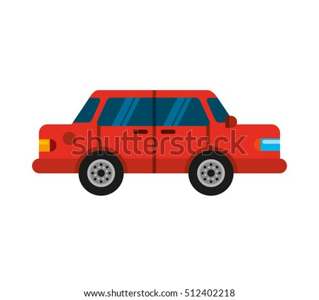 car vehicle auto isolated icon vector illustration design