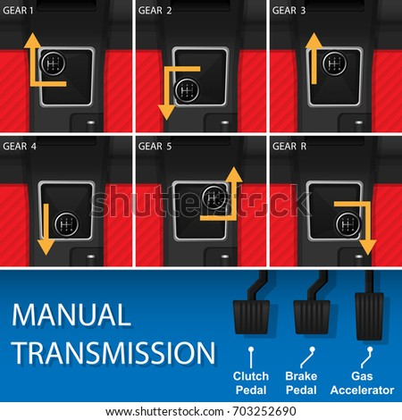 car vehicle manual transmission driving change stock vector rh shutterstock com how to change gear in manual transmission car change manual transmission fluid challenger