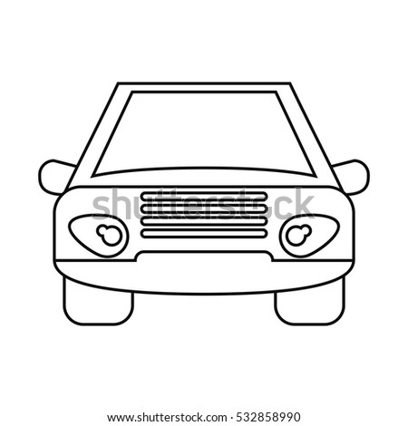 car vehicle transport front view outline