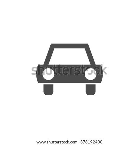 Car vehicle. Vector icon grey - stock vector