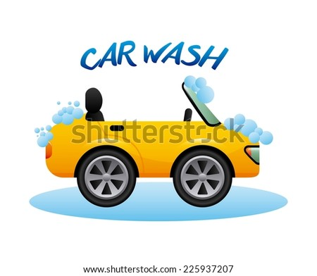 car wash graphic design , vector illustration
