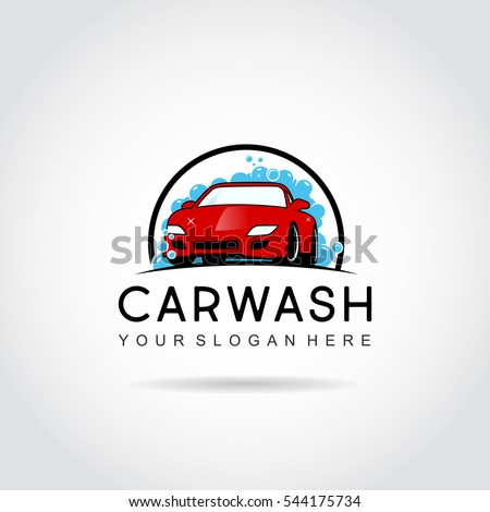 car wash logo template design car stock vector 544175734