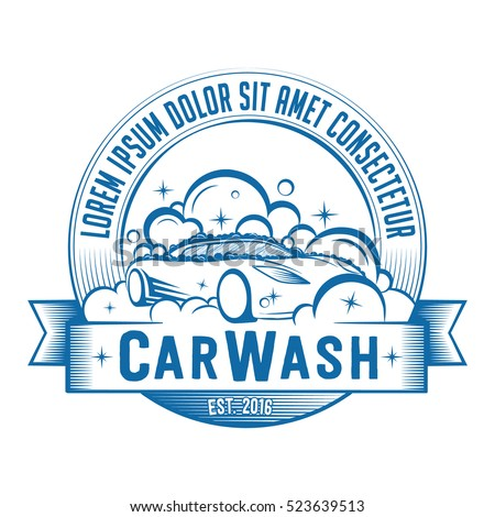 car wash logo vector illustration tshirt stock vector 523639513