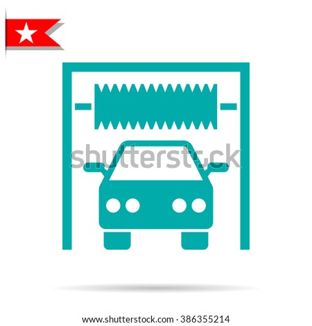 car wash sign icon - stock vector