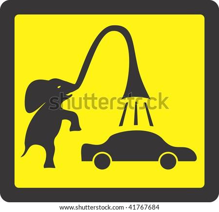 Car washing - stock vector