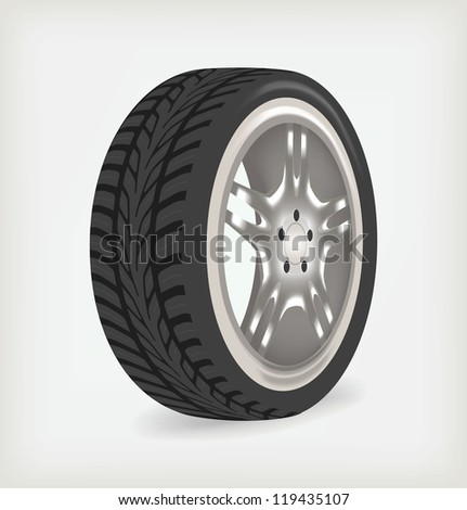 Car wheel perspective. Vector illustration