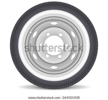 car wheel vector isolated on white background