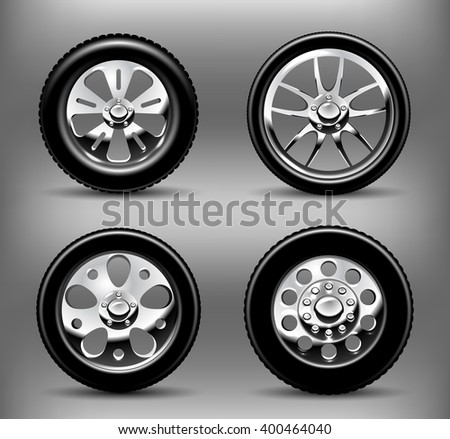 Car Wheels - stock vector