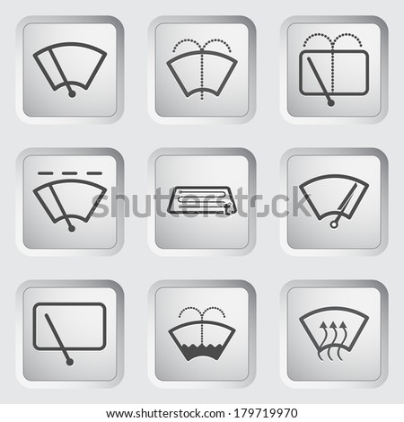 Car window dashboard sign on the button. Vector illustration. - stock vector