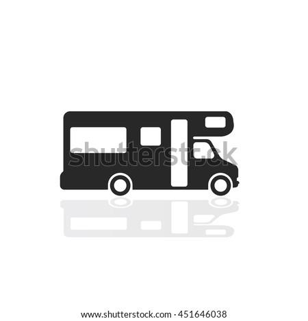 Caravan icon - stock vector
