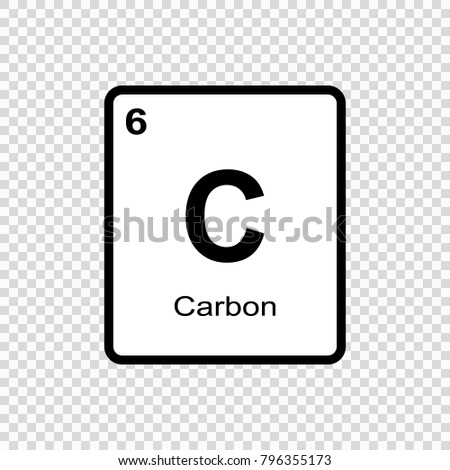 Carbon chemical element sign atomic number stock vector 796355173 carbon chemical element sign with atomic number chemical element of periodic table urtaz Gallery