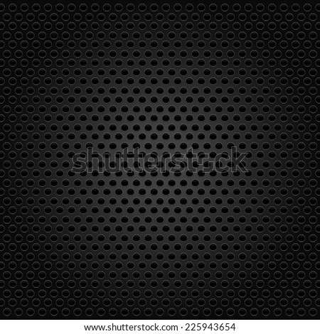 Carbon concept surface background w/ hexagon shapes - stock vector