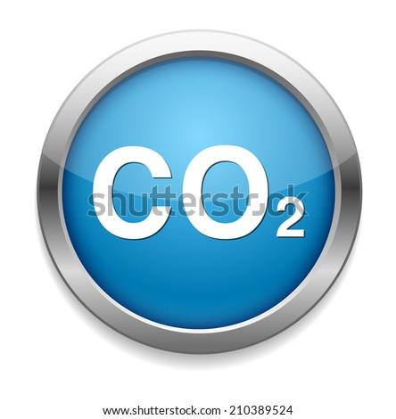 carbon dioxide icon - stock vector