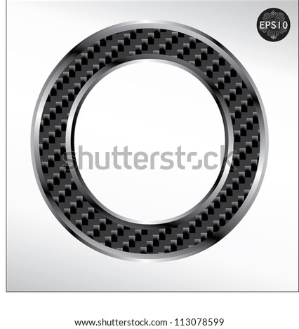 Carbon fiber font O capital letters isolated on white