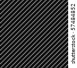 Carbon Fiber Seamless Background - dark version - stock photo