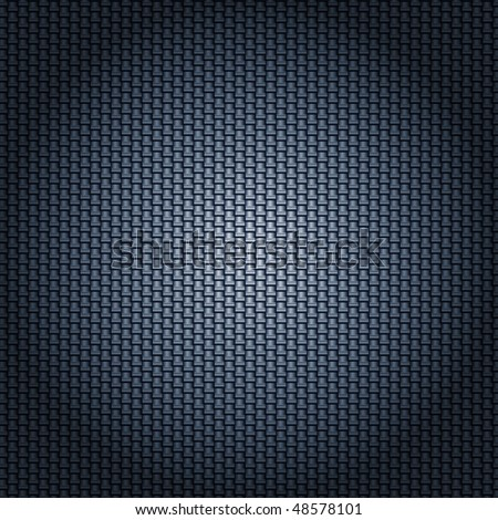 carbon fiber texture with radial lighting - stock vector