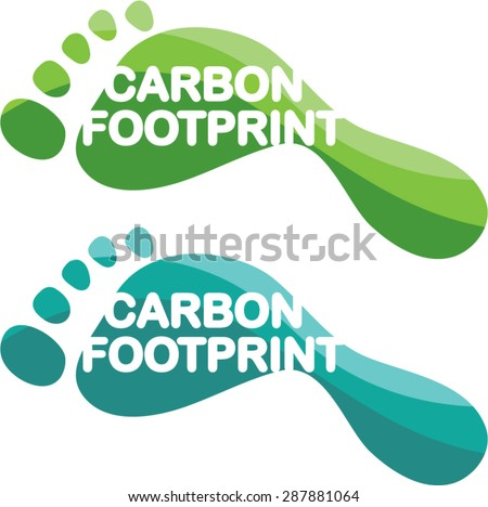 Carbon Footprint - stock vector