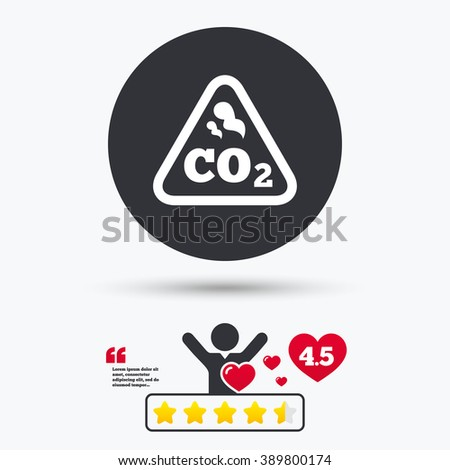 Carbon icon. Carbon flat symbol. Carbon art illustration. Carbon flat sign. Carbon graphic icon. Star vote ranking. Client or customer like. Quotes with message. - stock vector