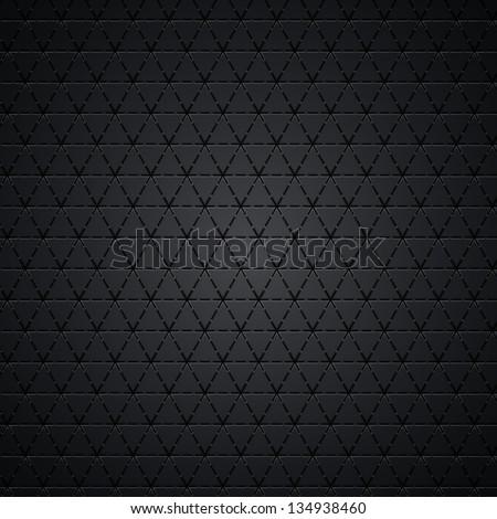 Carbon metallic seamless texture - stock vector