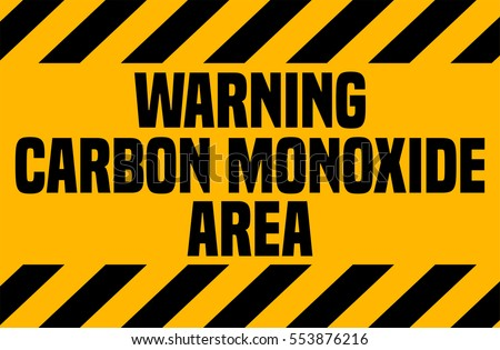 Carbon Monoxide Area Industrial Warning Sign Stock Vector