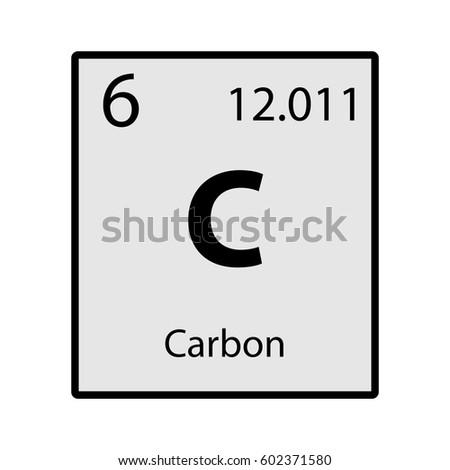 Carbon periodic table element gray icon stock vector royalty free carbon periodic table element gray icon on white background vector urtaz Choice Image