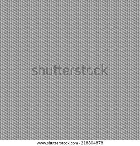 Carbon seamless pattern. Grey hexagon convex texture. Vector eps10 - stock vector