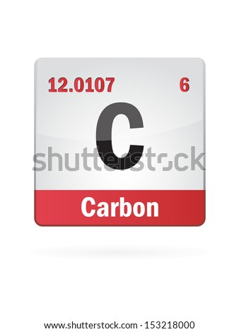 Carbon Symbol Illustration Icon On White Background - stock vector
