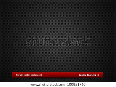 Carbon vector background - stock vector