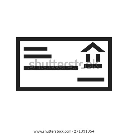 Card, account details, bank receipt icon vector image. Can also be used for banking, finance, business. Suitable for web apps, mobile apps and print media. - stock vector