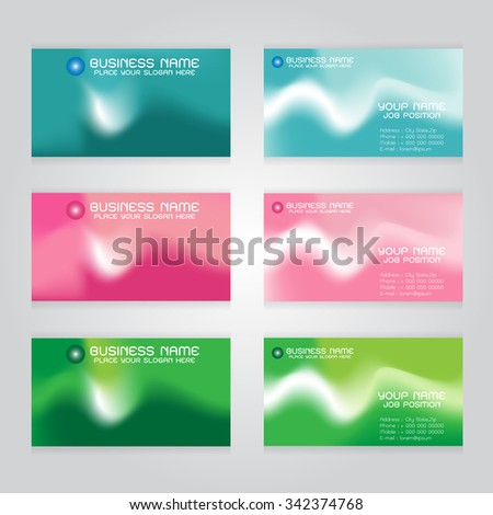 card blue pink green background Abstract colorful illustration with on gray background