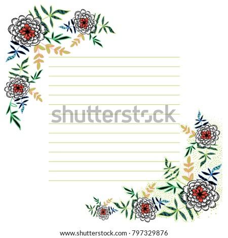 card design cute floral vector card stock vector royalty free