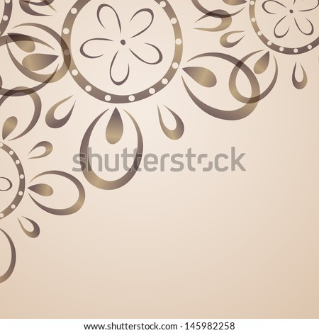 Card design with flower pattern. Eps10 vector illustration
