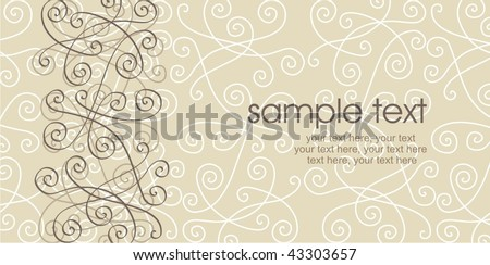 card design with ornament and text